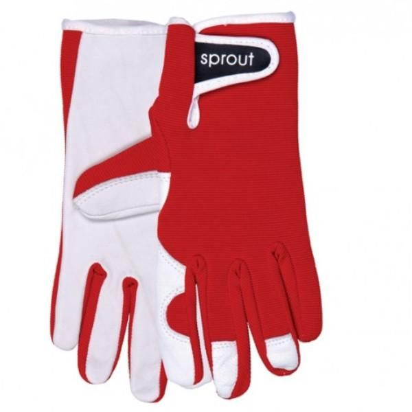 Ladies Goatskin and Lycra Gloves- Sprout brand - Red