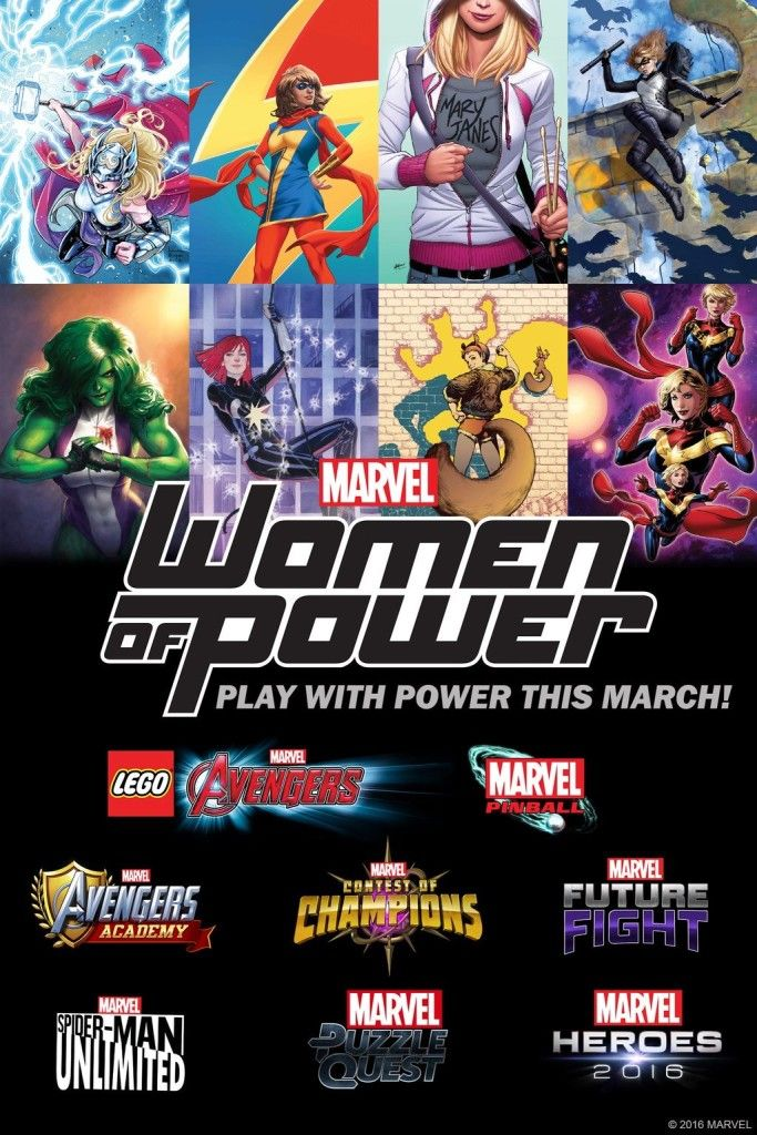 Women Of Power Coming To Many Marvel Games