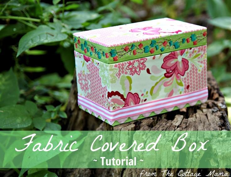 The Cottage Home: DIY Craft: No-Sew Fabric Covered Box Tutorial: Diy Ideas, Crafts Ideas, Home Diy, Diy Crafts, No Sewing Fabrics, Boxes Tutorials, Fabric Covered Boxes, Fabrics Covers Boxes, Cottages Home