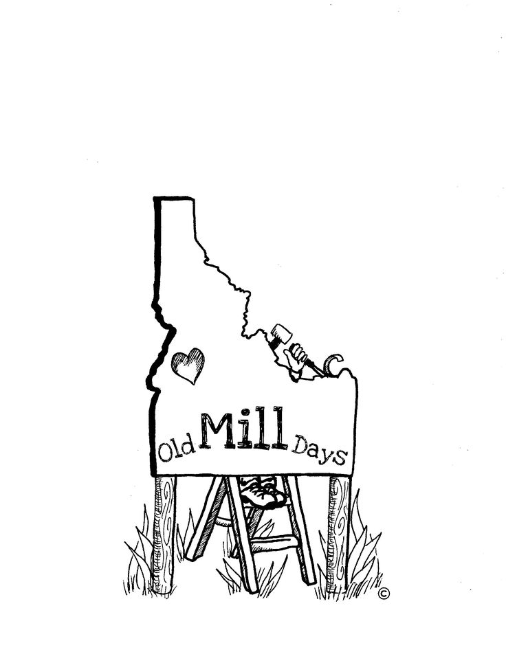 Logo for Cascade, Idaho's Old Mill Days   Copyright © Shelby Siewert