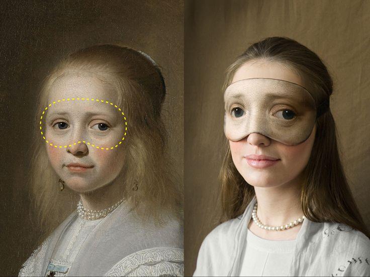 Des masques de sommeil avec les plus beaux regards de l'histoire de l'Art