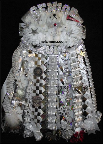 Melz Mumz MEGA Double Homecoming Garter. L D Bell High School. Custom made homecoming mums and garters by melzmumz. Com