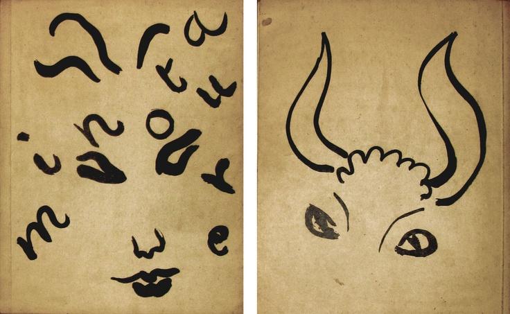 Minotaure. Magazine front / back cover. Artist: Henri Matisse. Publisher: Albert Skira, 1936. Size: 31.5×24.5 cm