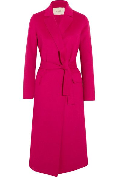 Fuchsia wool-blend felt Slips on  59% wool, 35% polyester, 6% silk; trim: 100% polyester Dry clean  Imported