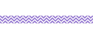 Purple Chevron Bulletin Board Border