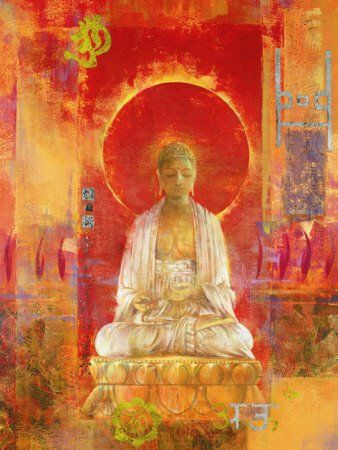 """28. """"No zen japonês, há duas vertentes principais: soto e rinzai. Enquanto a escola soto dá maior ênfase à meditação silenciosa, a escola rinzai faz amplo uso dos koans, ou 'enigmas'. Atualmente, o zen é uma das escolas budistas mais conhecidas e de maior expansão no Ocidente."""" (Fonte: Wikipédia) - Da pasta: Tradições, Mitologias, Ícones, Holismo.  Buddha"""