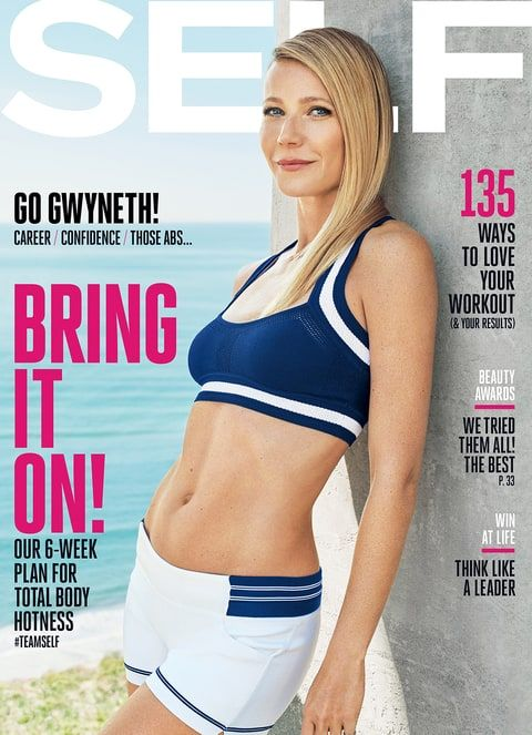 Gwyneth Paltrow on the cover of SELF