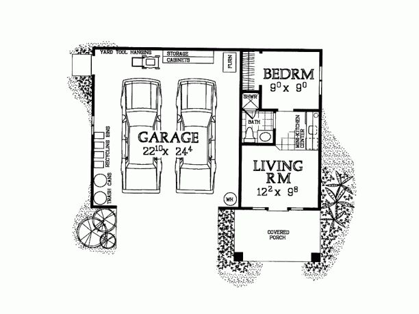 Garage apartment / floor plan. I THINK THIS MIGHT BE THE ONE!!!