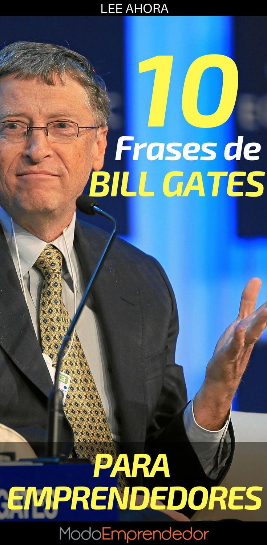 El fundador de Microsoft está catalogado como el hombre más rico del mundo y en su camino para lograrlo ha aprendido demasiado. Conoce las mejores frases de Bill Gates.
