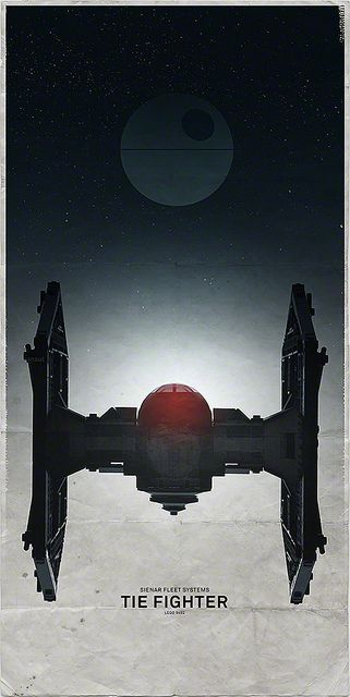 #TIE #Fighter #star #wars #tiefighter #scifi #graphic #design #illustration