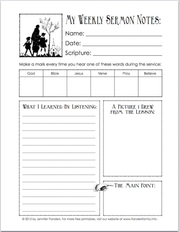 Free Printable for encouraging kids to listen in church ...