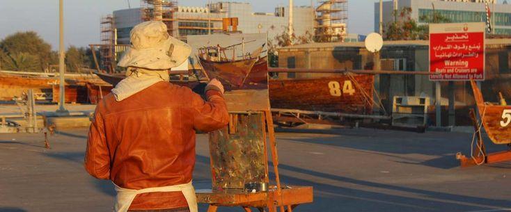 Des peintres de marine à Abou Dabi | colsbleus.fr : le magazine de la Marine Nationale