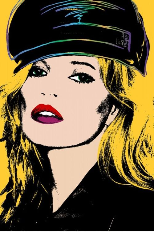 Kate Moss by Andy Warhol