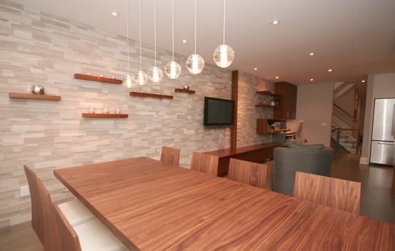 ErthCOVERINGS Silver Fox Living Room / Dining Room feature wall by Oomph Design Inc | Designer ...