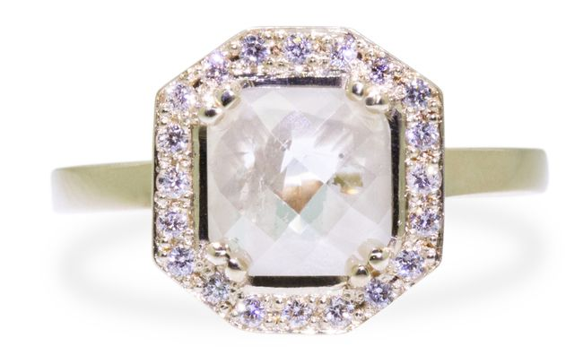 KATLA Ring in Yellow Gold with .98 Carat Light Gray Diamond. http://ss1.us/a/OrZVecEg