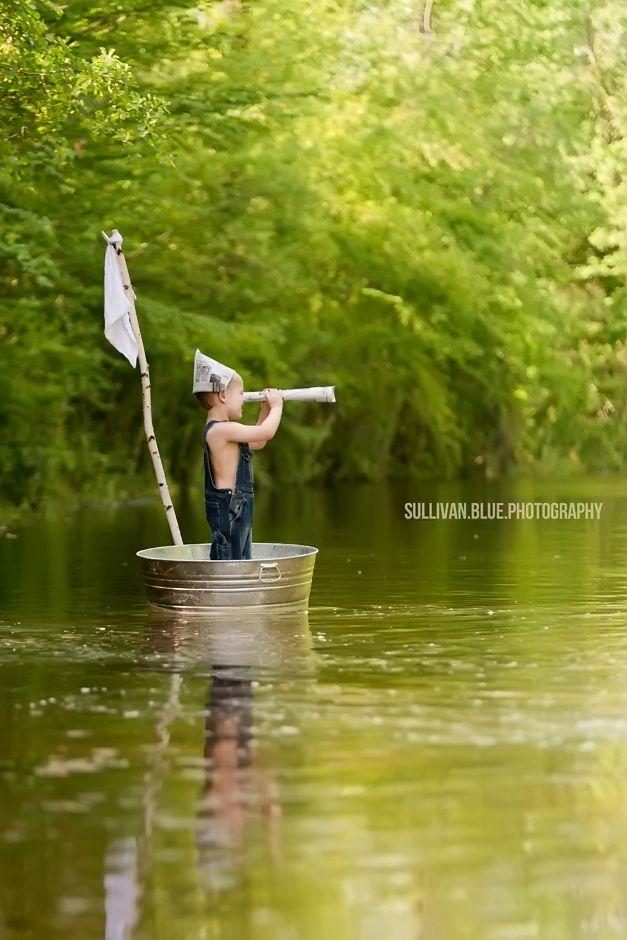 Lindsey mills for Sullivan blue photography, boat, river, marsh, paper hat, imagination, little boy pictures, outdoors