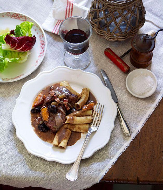 Australian Gourmet Traveller French recipe for beef daube (Provencal stew).