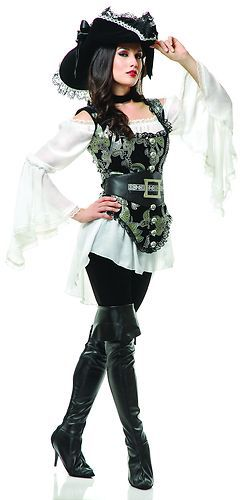 Pirate Lady Gold Adult Womens Sea Sailor Sexy Halloween Costume Extra Large | eBay