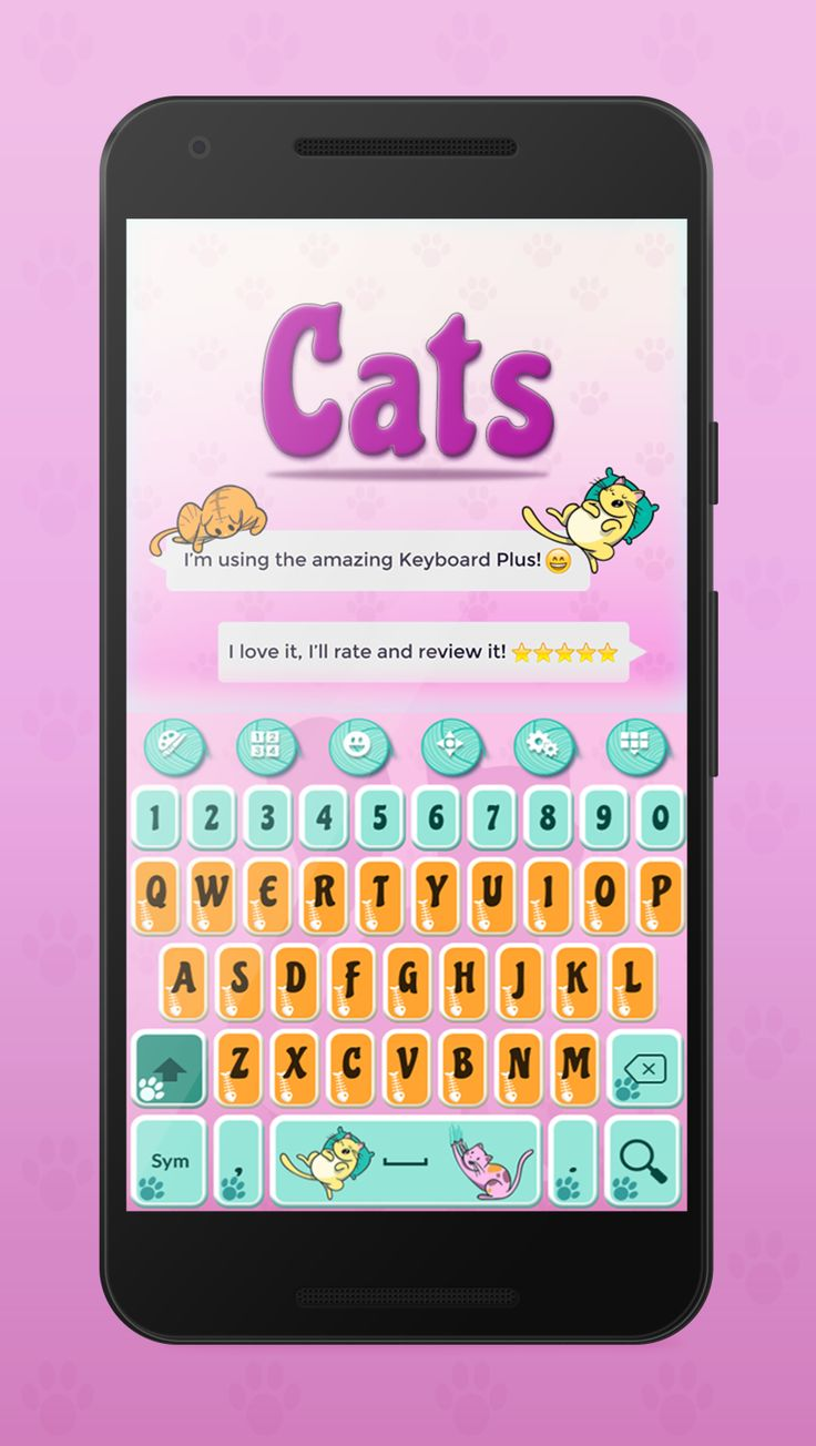 Are you a cat lover? Try this super cute Cats Keyboard Theme!