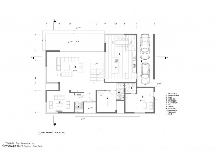 Villa No 12 In Nur Mazandaran Design Ground Floor Floor Plans Ground Floor Plan Architecture Plan
