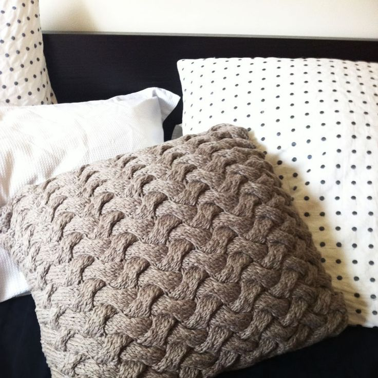 Ravelry: Chunky Cable Knit Braided Pillow pattern by Catalina Miguel. Yera Moda yarn from Spotlight held dbl. ball of viscose derived from bamboo and cotton ... & 376 best CABLE KNIT PILLOW images on Pinterest | Knit pillow ... pillowsntoast.com