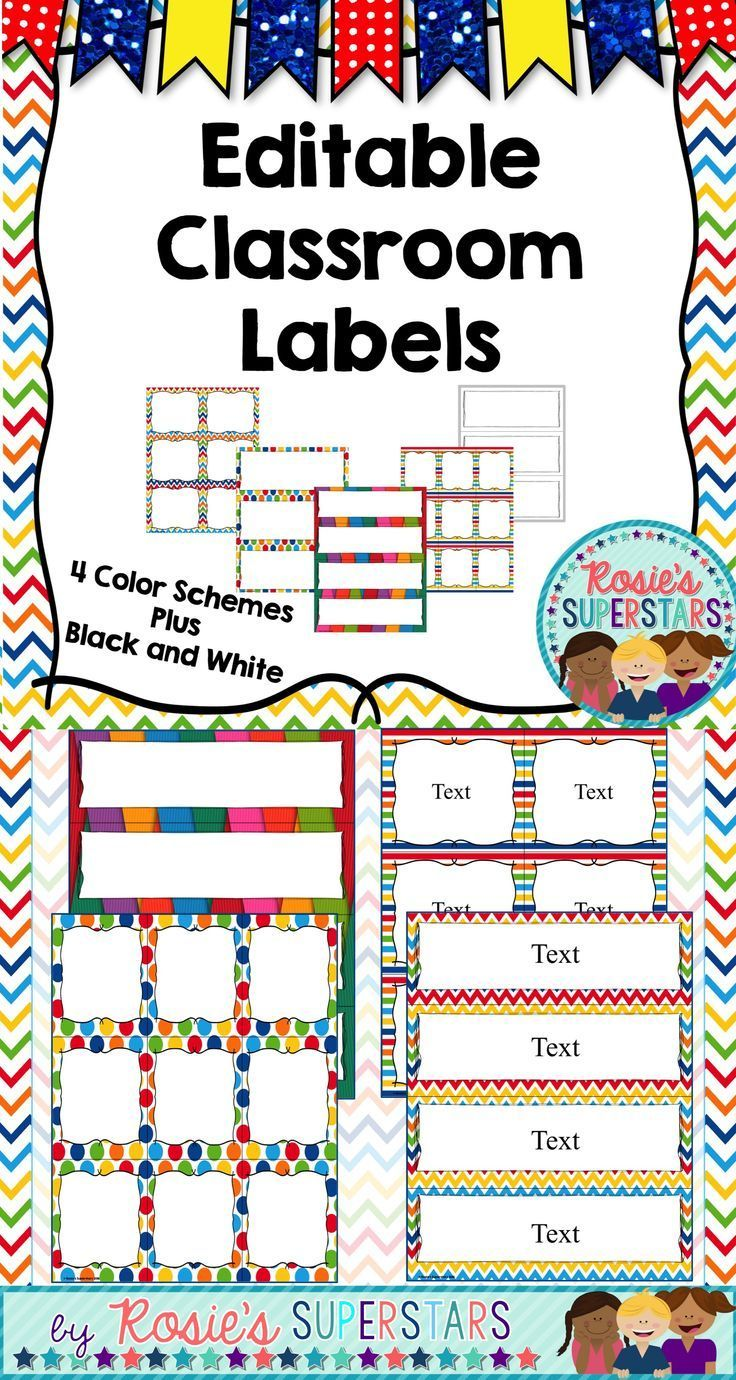 These editable label cards are great to use for student name tags, library bins, storage containers and so much more. Use these labels to keep your classroom organized. The labels are editable using PowerPoint.