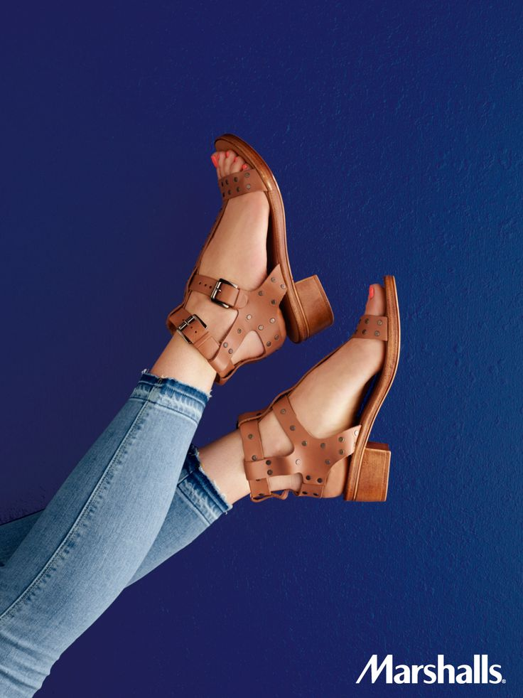 Buckle into these strappy, studded leather sandals. And surprise, your spring/summer wardrobe gets an everyday lift.