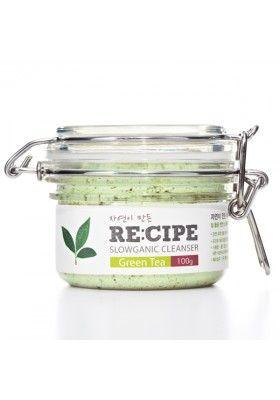 RECIPE Nettoyant démaquillant bio purifiant au thé vert « Slowganic cleanser green tea »