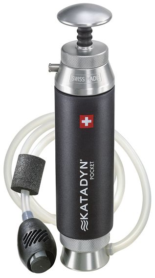 The classic. This robust water filter made of heavy duty materials is ideal for long lasting continuous use even under extreme circumstances. The silver impregnated ceramic element is effective against bacteria and protozoa. The Katadyn Pocket is the only water filter with a 20 year warranty. Includes: Prefilter, bottle clip and carry bag.