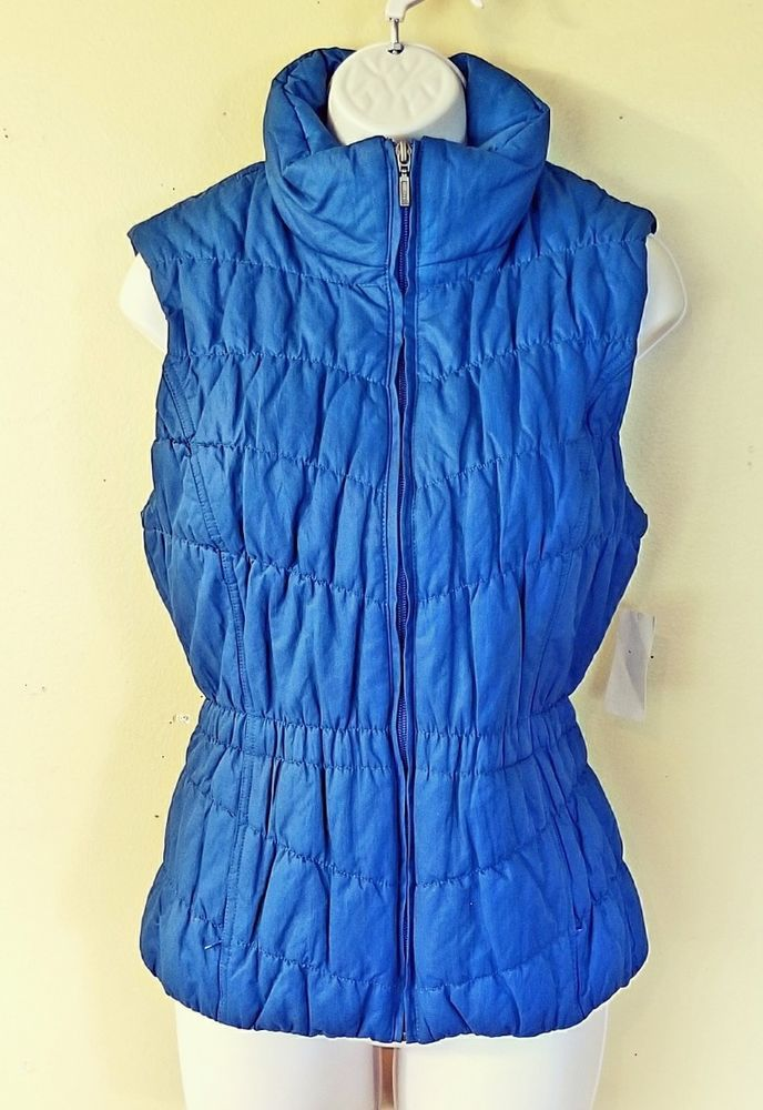 COLDWATER CREEK  Blue Fitted Quilted Vest Jacket Top size XS 4-6, Outdoor Vest  | Clothing, Shoes & Accessories, Women's Clothing, Vests | eBay!