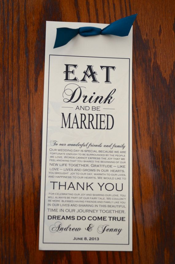 17 Best images about Wedding Menu cards & invites on Pinterest ...