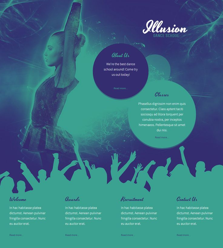 Illusion - dance school webiste template  #website #design #webdesign #business #createer #dance #danceschool