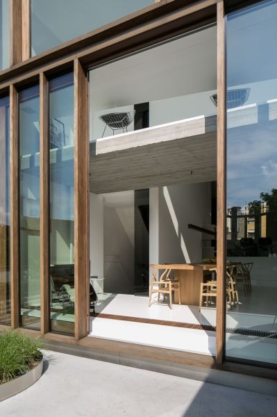 Timber Curtain Walling facade