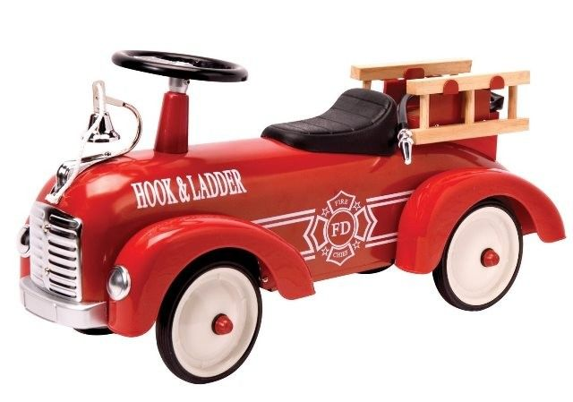 Speedster - Red Metal Ride-On Fire Engine. Timeless toy for my son #EntropyWishList #PinToWin