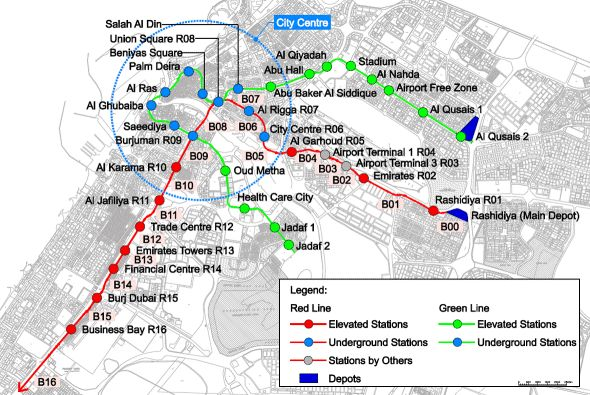 complete dubai metro map for travelers guidance