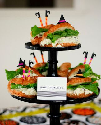 fun kids party with witch sandwiches and boo cups on craig whitney halloween halloween recipehalloween party ideashalloween - Halloween Buffet Food Ideas