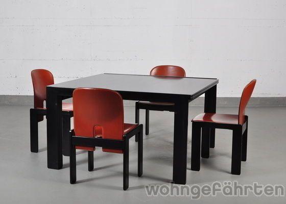 Cassina Tisch Esstisch 778 und 4er Set Stuhl 121 Design Tobia Scarpa