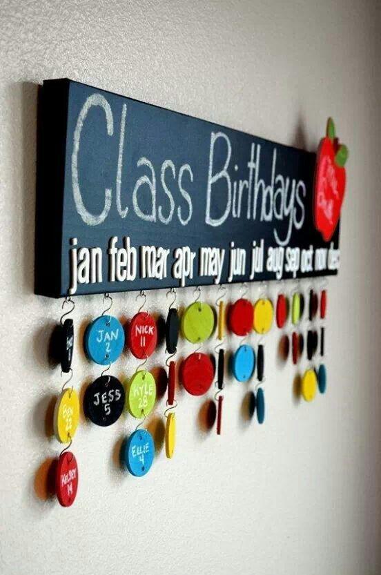Birthday idea for the class
