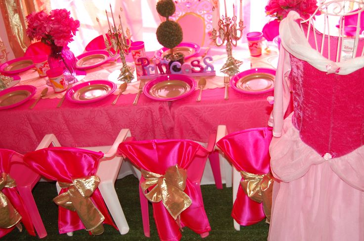 Wish Upon a Party Perth - Princess table setting
