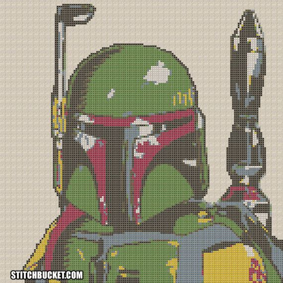 The galaxys most popular bounty hunter. Stitch Boba Fett in this awesome Star Wars inspired cross stitch pattern. This cross stitch pattern uses