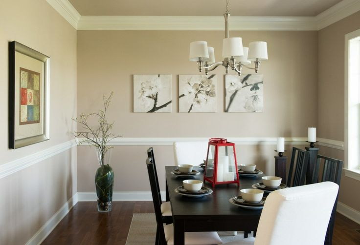 Formal Dining Room With Crown Molding And Chair Rail