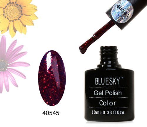 Bluesky 40545 RUBY SPARKLE - UV LED Gel Soak off Nail Polish 10ml by Bluesky, http://www.amazon.co.uk/dp/B00B7PSC3Y/ref=cm_sw_r_pi_dp_fqEKsb119TK89