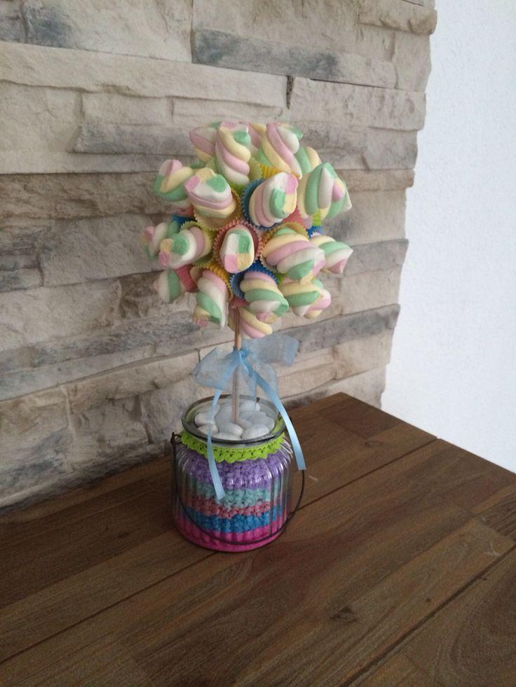 Marshmallow-Baum für Kindergeburtstage Taufe etc...