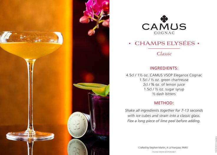 #Cocktail Champs Elysées - #Cognac #Mixology #alcool #drink