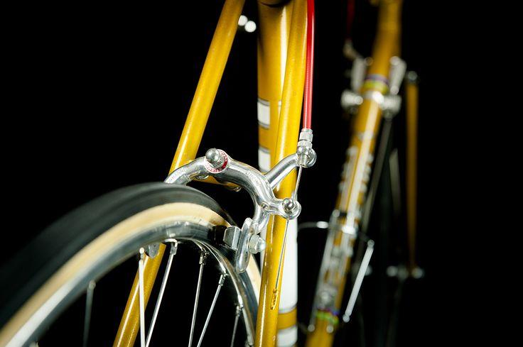Marka stworzona w 1896 r. w Turynie przez Emmo Ghelfi. Po 1946 r. została przejęta przez Emilio Bozzi i włączona do współpracy z mediolańskim Legnano. W latach 80. licencję marki Frejus nabyła włoska firma Bianchi. Idealny przykład włoskiego przemysłu rowerowego z tamtych lat. Oryginał zachowania. Lutowana na mufach rama z charakterystycznym zapięciem siodła.