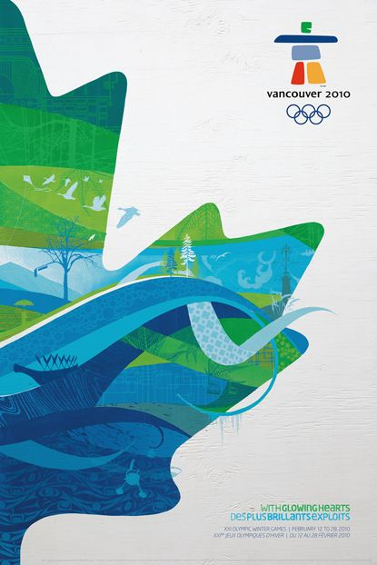 Vancouver 2010 Olympic & Paralympic Games Posters    Design:  Client: VANOC  Date: 2010    © VANOC/COVAN  The Official Vancouver 2010 posters distill the detailed graphic identity that VANOC developed for the Games. Reaction to the identity has been mixed; while some appreciate the use of locally sourced textures and reference materials, others have described the style as 'corporate clip art'.  Designed as companion pieces, the posters form a single image when hung as a set.  -Michael…