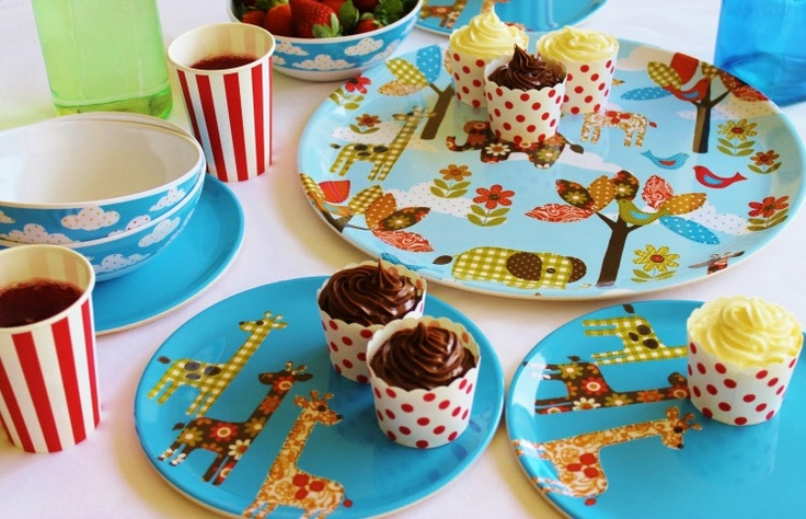 kids melamine dinner set