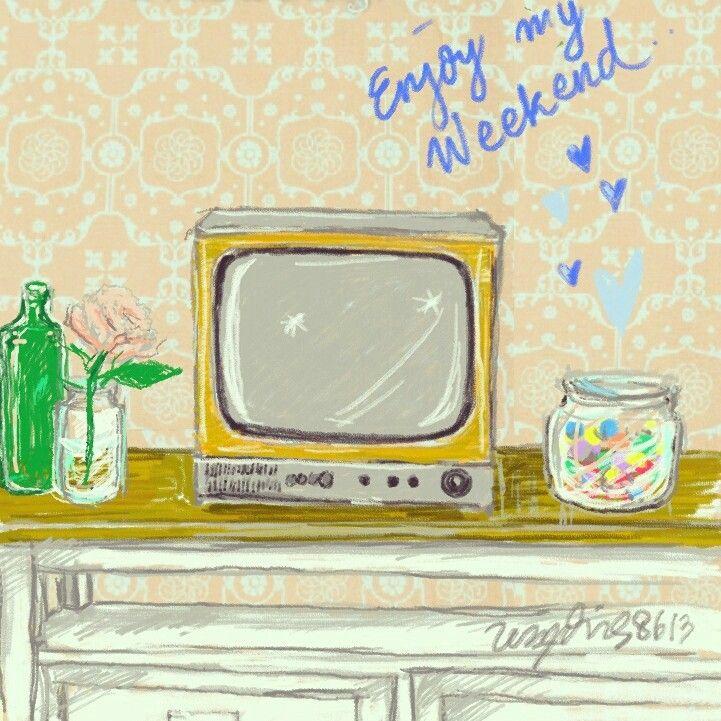 Weekend = watching tv a lot