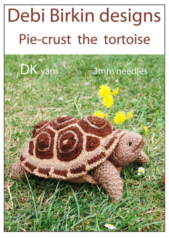 tortoise turtle PDF email toy knitting pattern by BunnyFriends, $3.99