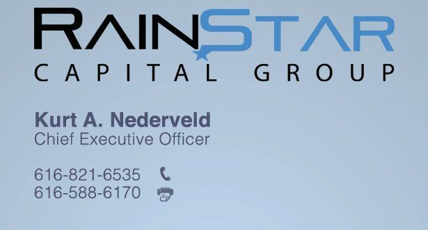 Rainstar Capital Group announced today that Ruth Davis had joined the team as a Managing Director of New Business Development. For more information on Rainstar Capital Group visit rainstarcapitalgroup.com or email: Ruth Davis- Ruth@rainstarcapitalgroup.com or Kurt Nederveld- Kurt@rainstarcapitalgroup.com!